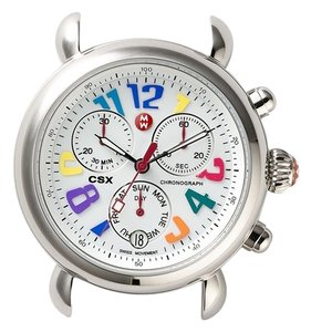 Michele Michele,csx,day,carousel,stainless,steel,ladies,watch,leather,strap