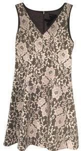 Club Monaco Wool Lace Floral Holiday Winter Brand New Never Worn Feminine Cream Dress