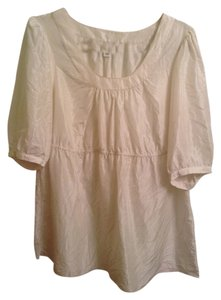Banana Republic 100% Silk Top Cream White