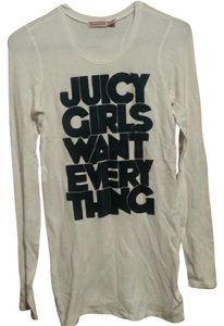 Juicy Couture Thermal Long Sleeve Henley Top white