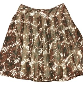 Alfani Skirt Brown and cream