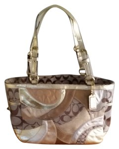 Coach Tote in golds