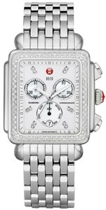 Michele BRAND NEW AUTHENTIC MICHELE DECO XL CHRONOGRAPH DIAMONDS MWW06Z01A1046
