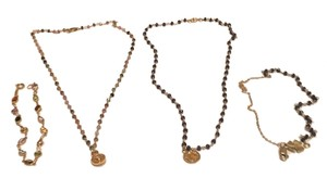 Customed made tourmaline & blue sapphire wire wrapped necklace & bracelet for $100 each set.