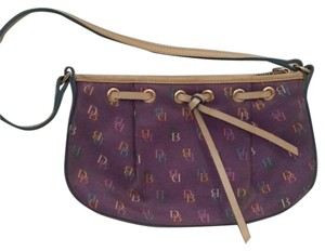 Dooney & Bourke Fun Flirty Chic Purple Mulit Color Clutch