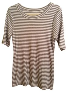 Kersh T Shirt Grey and White Stripe