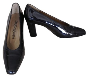 Yves Saint Laurent Black Patent Pumps