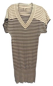 BCBGeneration short dress Black, white, grey stripes on Tradesy