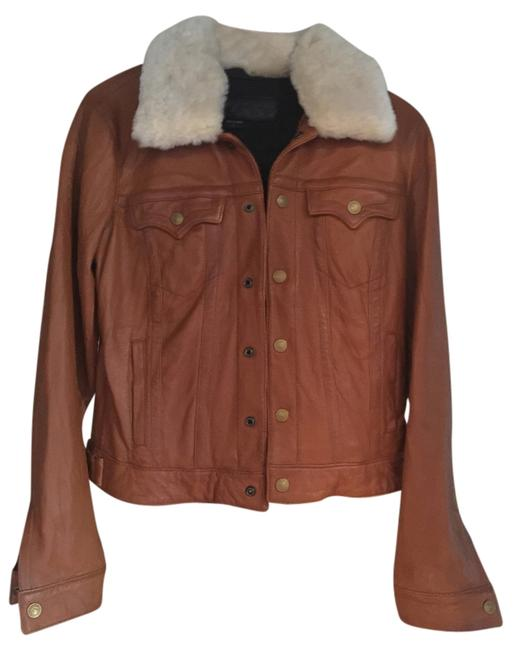 Item - Distressed Whiskey Tan Jacket Size 8 (M)