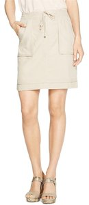 White House | Black Market Biege Mini Skirt Beige