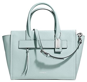Coach F30149 Satchel in SILVER/DUCK EGG BLUE