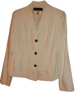 Jones New York White Blazer with Black buttons Blazer