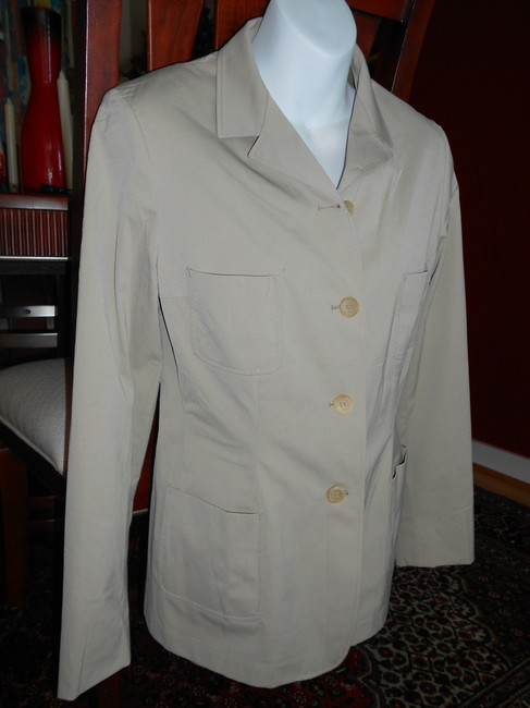 Jil Sander Casual Office Cream Color BEIGH KHAKI Jacket