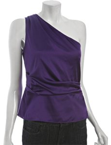 Elie Tahari Silk One Sexy Elegant Top Royal purple