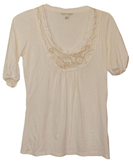 Preload https://item4.tradesy.com/images/banana-republic-ivory-t-shirt-embellished-tunic-size-4-s-767418-0-0.jpg?width=400&height=650