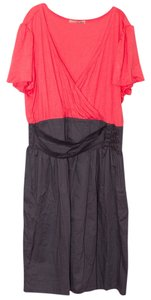 BeBop short dress Coral/Gray on Tradesy
