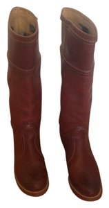 Frye Leather Leather Boot Jane Redwood Boots