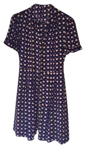 J.Crew short dress Navy with colored hearts on Tradesy
