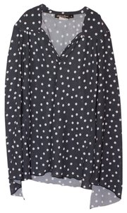 Odd and Evens Top Navy/White Polka Dots