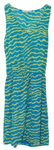 Collective Concepts short dress Blue/Yellow on Tradesy