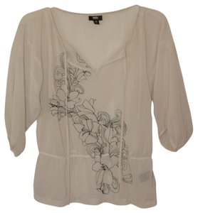 Mossimo Supply Co. Top Ivory/Navy