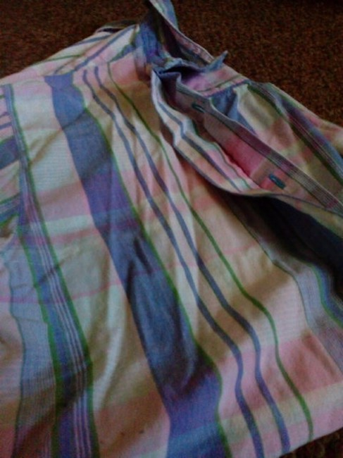 Other Button Down Shirt Blue Pink green and some white Image 6