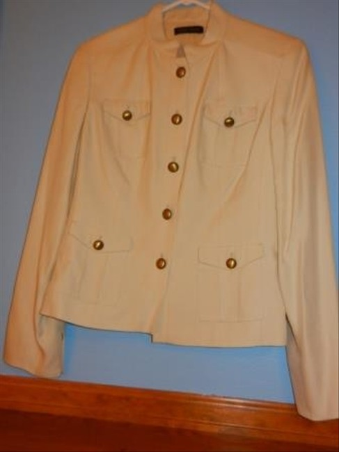 Valerie Stevens Creme with bronze/gold buttons Blazer