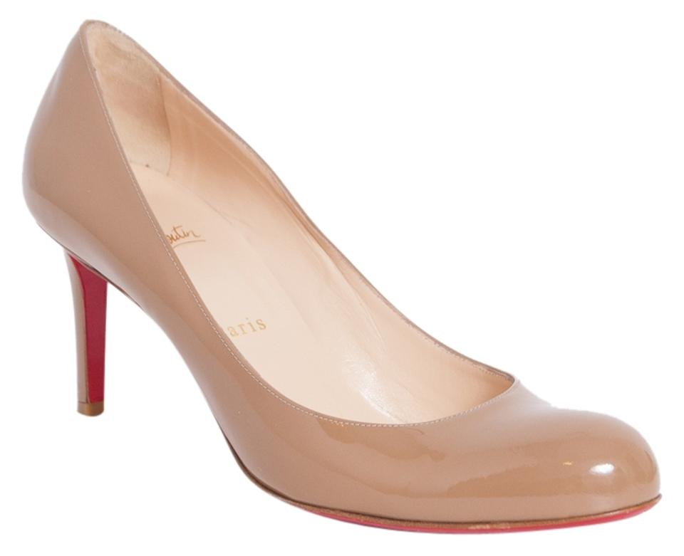 59742d596bd Christian Louboutin Beige Simple Heels 70mm Nude Patent Leather Pumps Size  US 9.5 Regular (M, B) 46% off retail