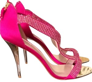 Glint Stiletto Pink Gold Heel Gold Stiletto Pink Stiletto Magenta Formal