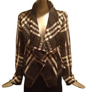Escada Draped Collar Tweed Multi Colored metallic Jacket