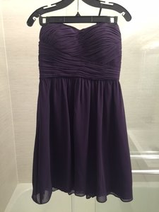 Donna Morgan Amethyst Polyester Chiffon Sarah Strapless Feminine Bridesmaid/Mob Dress Size 8 (M)