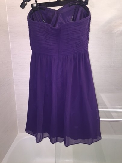 Donna Morgan Amethyst Polyester Chiffon Sarah Strapless Feminine Bridesmaid/Mob Dress Size 8 (M) Image 1