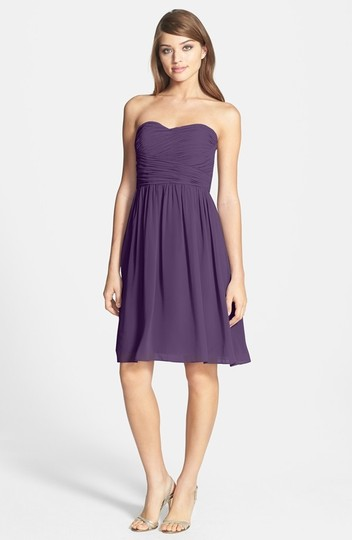 Donna Morgan Amethyst Polyester Chiffon Sarah Strapless Feminine Bridesmaid/Mob Dress Size 8 (M) Image 3