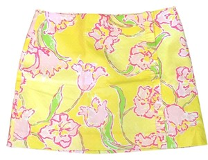 Lilly Pulitzer Mini Skirt Starfruit Yellow Day Lilly