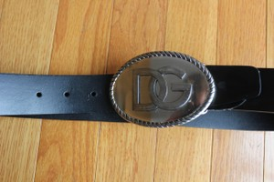 Dolce&Gabbana Dolce and Gabbana Black Leather Belt with silver Hardware