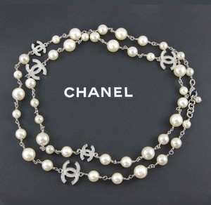 Chanel Take $500 Off TODAY CHANEL New 2016 Pearl Necklace 5 Crystal CC in Gift Box A Chic Classic