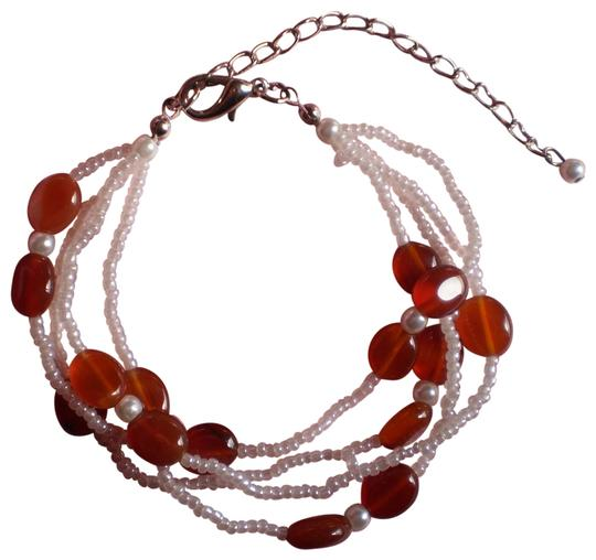 Other New Carnelian, Seed Bead Bracelet