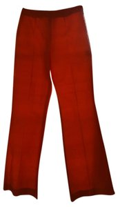 Escada Silk Evening Party Boot Cut Pants Orange
