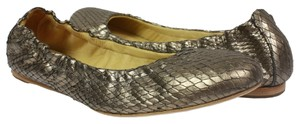 MS Shoe Designs Metallic Gold Flats