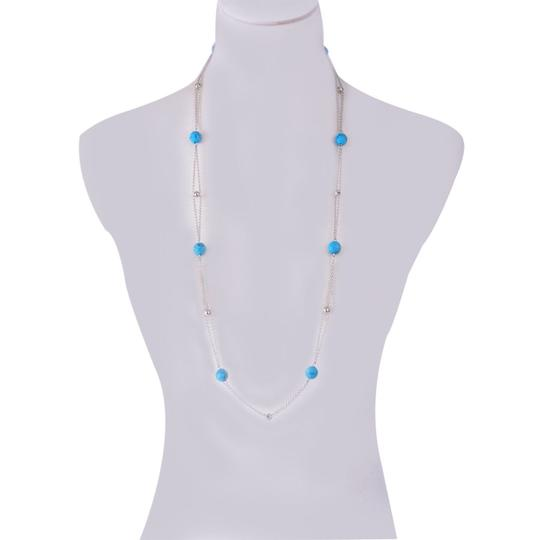 Other New Howlite on Stainless Steel Necklace (34 in) TGW 65.00 cts.