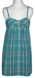 Xhilaration short dress Blue Plaid on Tradesy