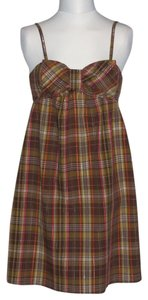 Xhilaration short dress Brown Plaid on Tradesy
