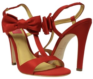 MS Shoe Designs Red Sandals
