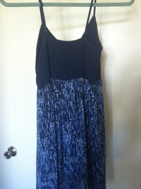 Anthropologie short dress navy Silk on Tradesy