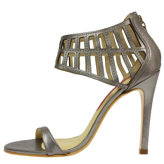 MS Shoe Designs Metallic Silver Sandals