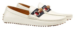 Gucci Driver Leather Off White Flats