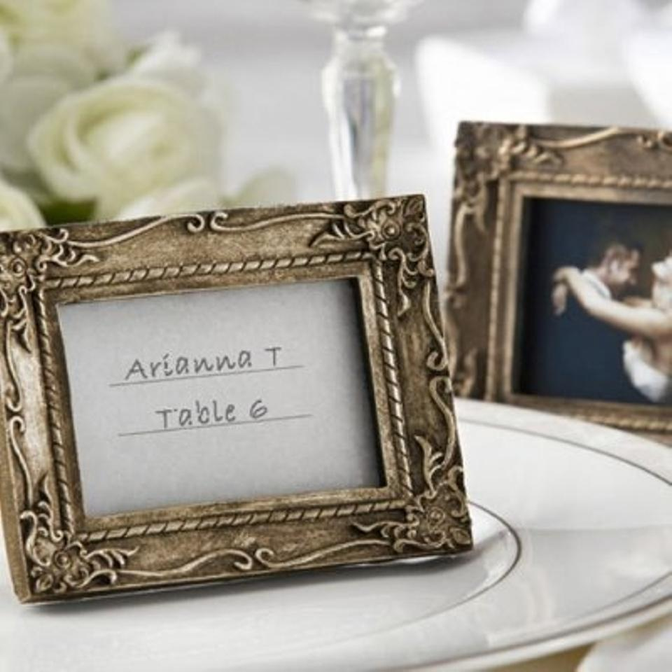 Kate Aspen Gold Antique Place Card Frames (41 Frames) Wedding Favors ...