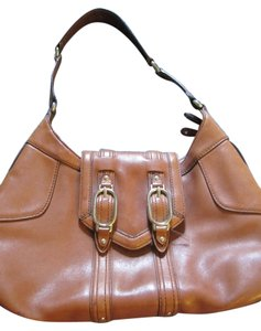 Cole Haan Leather Rivets Stud Shoulder Bag