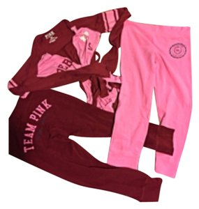 PINK Wrap T-Shirt w 2 Pair Matching Leggings