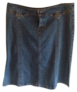 DKNY Skirt Dark rinse denim